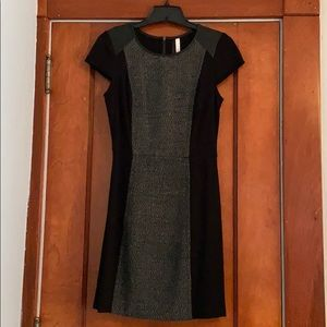 Black Multi Texture Dress